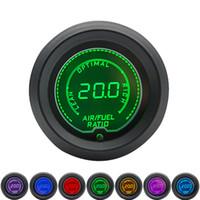 52MM نسبة الهواء الوقود قياس LCD الرقمية 7 لون عرض إشارة فولت 0-1V