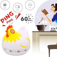 Forma de frango Multifuncional Kitchen Timer Alarm Clock Home Cooking Supplies Prático Tools cozinhar alimentos Acessórios de cozinha 2 cores DHL