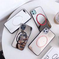 Caso Mirrow acrílico com suporte para iPhone 11 pro Max XR XS Caso moda elegante Cell Phone Protector iPhone Para 7 8