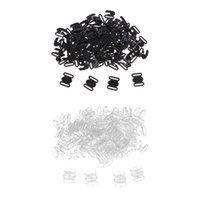100 TENUES Soutien-gorge Clips de fermeture crochet de fixation fermoir accessoires de couture Noir Transparent 10 mm