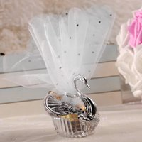 20pcs Sliver Swan Candy Gift Box Wedding Party Chocolate Cak...