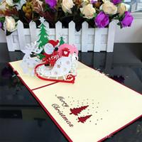 Festas de Natal do Cartão de Feliz Ano Novo 3D Bênção Cartão Popula Tridimensional Idéia Criativa Venda Direta Da Fábrica 8 m p1