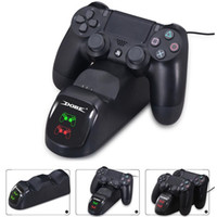 PS4 Controller Dual bacino del caricatore per PS4 periferiche di gioco wireless di ricarica Docking LED Stazione super forte magnetico Playstation 4 Slim pro