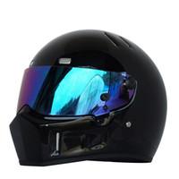 Moto Casque complet Automne Hiver Chaud Kart Racing Verre Verre Motocross Casque Unisexe ATV-1 Noir / Élégant Noir / Blanc