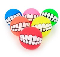 Dog Toys Funny Pets Dog Puppy Cat Ball Teeth Toy PVC Chew So...
