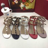 2020 Frauen Sandalen Echtes Leder Slingback Pumps Damen Sexy Spikes Sandale Mode Nieten Schuh Party Flache Schuhe Chaussures Schuhe