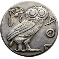 G (04) Ancient Athens Greek Silver Drachm - Atena Ancient Greek Coin Monedas de buena calidad Venta al por menor / Toda la venta Envío gratis