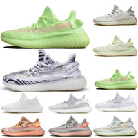 Hot New Kanye West Clay V2 statico Reflective GID Glow In The Dark Mens scarpe da corsa Hyperspace True Form Women Men Sports Designer Sneakers