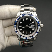 Los diamantes de alta calidad de Sub hombres de los relojes de zafiro azul Negro Bisel de acero inoxidable de 40 mm de regalo Reloj de pulsera automático mecánico