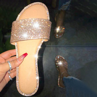 Summer Sandals For Women 2020 Bling Sandles Ladies Flat Jell...