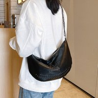 Soft leather big bag female 2020 winter new INS ultra fire r...