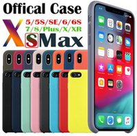 LOGO Cases Original silicone têm para o iPhone 11 Pro Max 6 7 8 Plus Silicone Líquido iPhone Case Cover For X XR XS Max Com pacote de varejo