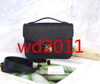 En kaliteli Kadınlar tasarımcı tam siyah kabartma çanta cüzdan Omuz Kadın moda pu leathe omuz çantası çapraz vücut bagsM40780