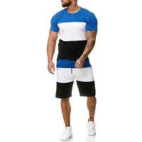 Новые мужские наборы мужские 2 шт. Outfit Спортивный набор с коротким рукавом футболка и шорты Летние досуг повседневный короткие тонкие наборы
