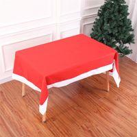 Ano Novo Natal Red retangular pano de tabela Xmas Ornamentos Partido Toalha Capa Cozinha Mesa de Jantar Detalhes no JK1910PH