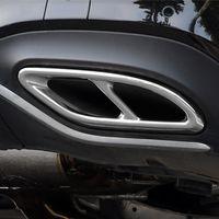 الذيل الذيل الحلق إطار الأنابيب العادم الديكور الديكور تقليم لمرسيدس بنز فئة A180 200 2019 الفولاذ المقاوم للصدأ التصميم