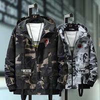 Plus Size 10XL 9XL 8XL 7XL Bomber Uomini giacca mimetica casuale degli uomini di modo di autunno maschile Windbreaker cappotto incappucciato