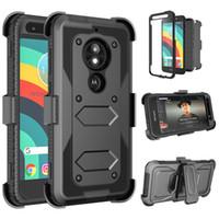 Para LG Stylo 6 V60 Thinq K51 V50 G8 LV5 K10 K40 2019 Holdora Pesada Improto Holster Swivel Belt Cinturão Clipe Rotatable Kickstand Defender Case Phone