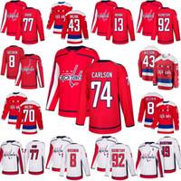Kadın Washington Capitals Jersey 74 John Carlson 77 T.J. Oshie 43 Tom Wilson 8 Alex Ovechkin 13 Jakub Vrana 70 Braden Holtby 92 Kuznetsov