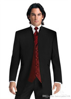 Mandarin solapa tuxedos novio de la boda trajes de hombre para hombre trajes de boda trajes de smoking pour hommes hombres (chaqueta + pantalones + corbata + chaleco) 031