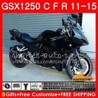 Body For SUZUKI Bandit GSX1250F GSX1250FA GSX1250 C 11 12 13 14 15 23HC.0 GSXF1250 GSX1250C 2011 2012 2013 2014 2015 Fairing Glossy black