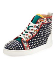 Spikes Gold Flower in pelle da donna, Uomo Sneakers unisex Scarpe Design High Top Red Bottom Shoes Stud Casual Walking Flats Taglia 35-46