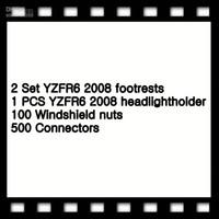 2 تعيين YZFR6 2008 مسند القدمين 1 PCS YZFR6 2008 headlightholder 100 الزجاج الأمامي المكسرات 500 موصلات
