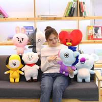 새로운 스타일 BT21 플러시 장난감 방탄 청소년 그룹 베개 박제 동물 봉제 인형 베개 크리 에이 티브 인형 도매