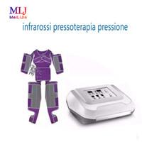 Venda quente Máquina profissional emagrecimento com o terno da pressão de ar do corpo de emagrecimento e drenagem linfática pressão de ar Pressoterapia infravermelho