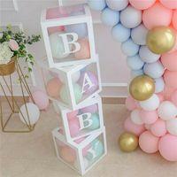 4 шт. Прозрачная Упаковочная коробка Свадебный шар Box Свадебный день рождения Декор декор Дети Латекс Макарон Баллон Детский Детский Душ