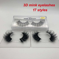 2019 pestañas MINK 17 estilos Vendiendo 1 par real Siberiano 3D Full Strip False Eyelash Long Mink Lashes Extensión
