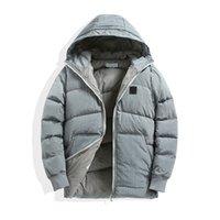 Pluizige kleding jassen gans down verwarmde heren stijl zwart kogeljack winter teddy jas mode merk hoge kwaliteit