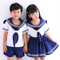2 Pieces Clothing Set Cute Anime Kid Baby Girls Boys Sailor ...