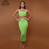Parthea Summer Dress 2019 New Bodycon Maxi Dress Women Elega...
