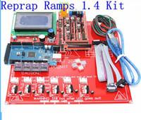 FREESHIPPING Reprap سلالم 1.4 عدة ميجا 2560 Heatbed mk2b 12864 LCD المراقب DRV8825 الميكانيكية Endstop كابلات طابعة 3D