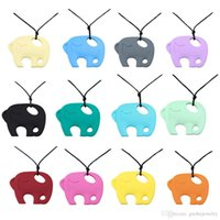 New Arrival Długie Naszyjniki Proste Elephant Wisiorek Ząbkowanie Naszyjnik Silikonowe Naszyjniki Biżuterii Dla Kobiet Darmowa Wysyłka