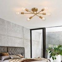 الشمال الحديث ضوء فاخر بسيط شخصية الإبداعية غرفة المعيشة غرفة الطعام دراسة مصباح مصباح معدني طويل السقف مصباح