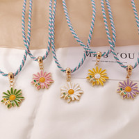 2020 Bohemian Cute Daisy Bee Charms Pendant Necklace for Wom...