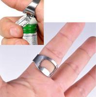 Пиво открывалки из нержавеющей стали палец кольцо Открывалка кольцо-формы бутылки пива открывалка Party Favor Универсальный панель инструментов Бесплатная доставка LQPYW1268