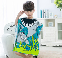 New Arrival. 8 styles Mermaid bathrobe Kids Robes cartoon animal shark  Nightgown Children Towel Hooded bathrobes SN2090 6263a4a09