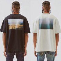 Medo de Deus Essentials camisetas Fog Boxy Foto Novo CA Limited Casual Mangas Curtas T Camisetas Rua Hip Hop Homens Mulheres Verão Verão Oversize Tee