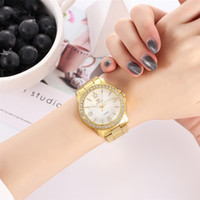 New Women Luxury Watch Gold Stainless Steel Analog Quartz Wr...