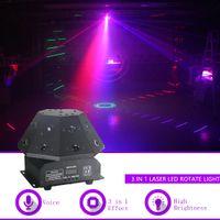 Sharelife 24 RGB-Lasergobos + RGB-LED-Strahl + weißer Strobe-LED-Move Light DMX bar Party Disco Show DJ drehen Bühnenbeleuchtung Q19