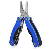 Großhandel AA3 9 in 1 faltbare Messer Multifunktionszange beweglichen im Freien Überlebens-Edelstahl Handwerkzeug Flasche Schlüssel Zangen Dateien