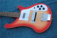 4 corde Cherry Red 4003 Electric Bass Red 4003 Electric Bass Guitar Uscita stereo in palissandro Fretboard Cina RIC Bass