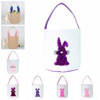 Пасха Bucket 3D блестки Кролик хвост Printed младенца Лаки Egg Basket Кролик Printed конфеты сумки Детские игрушки хранения сумки Сувениры WY443-12Q
