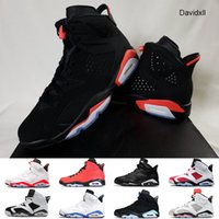 Top Quality Mens Basketball Shoes Jumpman 6s GS nero a infrarossi 2019 3M riflettente l'infrarosso UNC DMP Sport Blu alternativo Sport Mens Sneakers