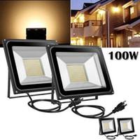 야외 조명 투광 조명 LED 100W 쿨 화이트 110V 높은 전력 홍수 빛 스포트 라이트