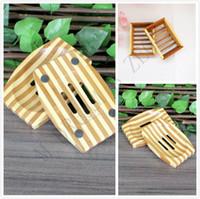Doğal Bambu Ahşap Sabun Çanak Ahşap Sabun Tepsi Tutucu Depolama Sabunluk Plaka Kutusu Konteyner Banyo Duş Banyo Için