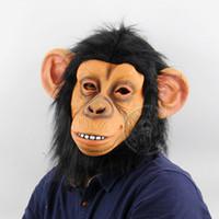 شخصية انسان الغاب كامل الوجه قناع أقنعة حزب مهرجان مضحك الحيوان قناع حزب هالوين الرجال عالية الجودة الكبار